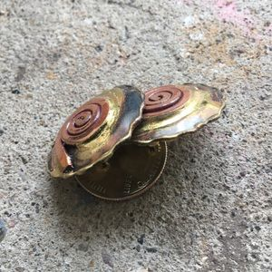 Jewelry - Boutique | Hammered Brass & Copper Swirl Studs